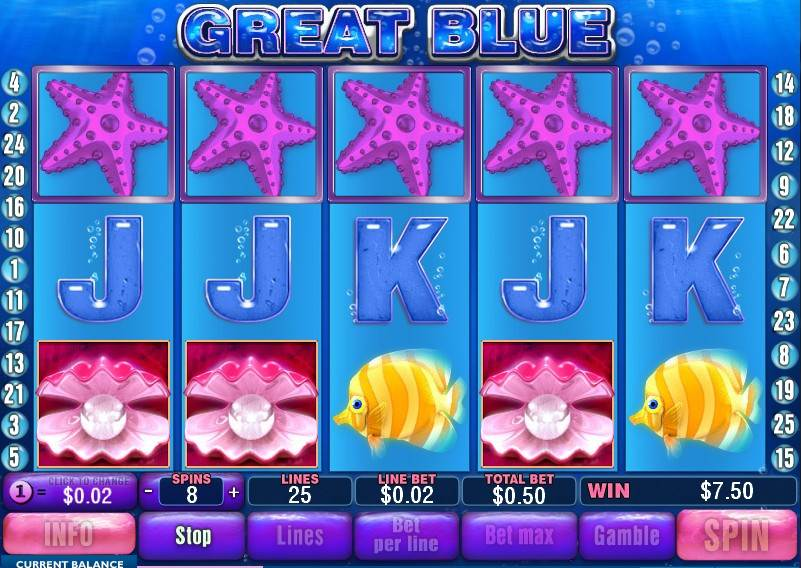 Free games slot machine great blue