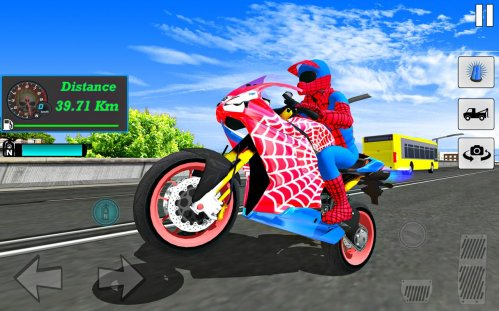 Игра Bike Super Hero Stunt Driver Racing на андроид