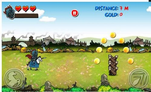 Игра на андроид Riding Hero: Knight Dash